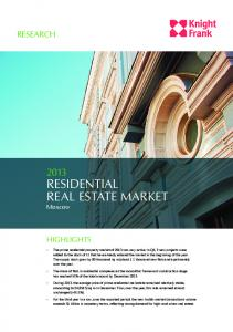 Residential Real estate market Moscow