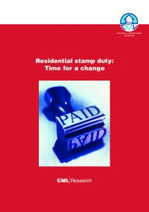 Residential stamp duty: Time for a change