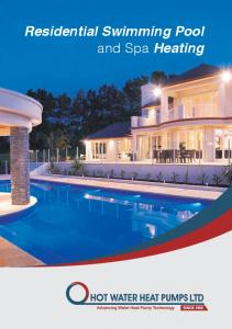 Residential Swimming Pool and Spa Heating