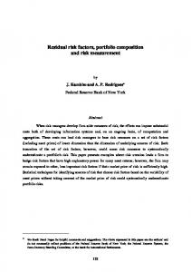 Residual risk factors, portfolio composition and risk measurement