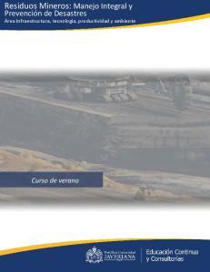 Residuos Mineros: Manejo Integral y