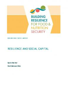RESILIENCE AND SOCIAL CAPITAL