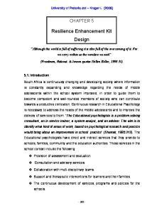 Resilience Enhancement Kit Design