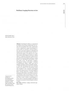 Resilience in aging: literature review