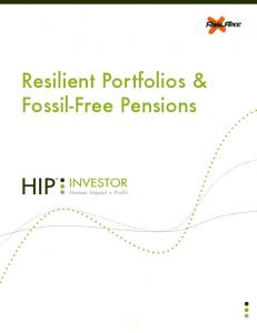 Resilient Portfolios & Fossil-Free Pensions