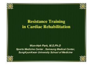 Resistance Training in Cardiac Rehabilitation