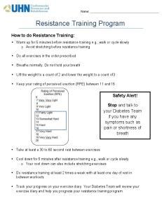 Resistance Training Program