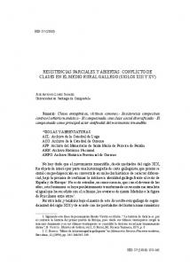 RESISTENCIAS PARCIALES Y ABIERTAS: CONFLICTO DE CLASES EN EL MEDIO RURAL GALLEGO (SIGLOS XIII Y XV)