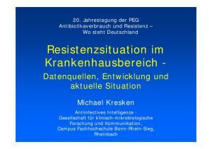 Resistenzsituation im Krankenhausbereich -