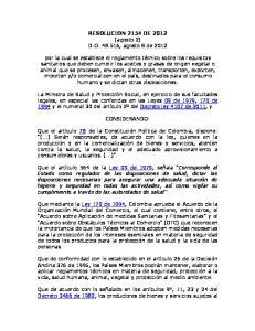 RESOLUCION 2154 DE 2012 (agosto 2) D.O , agosto 8 de 2012