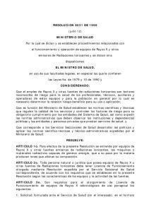 RESOLUCION 9031 DE (julio 12) MINISTERIO DE SALUD. Por la cual se dictan y se establecen procedimientos relacionados con