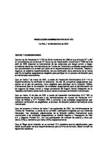 RESOLUCION ADMINISTRATIVA IS N 570. La Paz, 1 de Noviembre de 2001