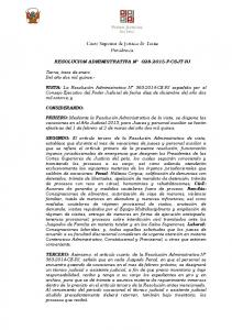 RESOLUCION ADMINISTRATIVA N P-CSJT-PJ
