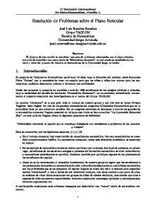 Resolución de Problemas sobre el Plano Reticular