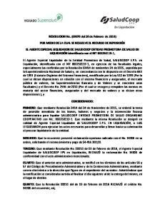 RESOLUCION No. (00076 del 26 de Febrero de 2016) POR MEDIO DE LA CUAL SE RESUELVE EL RECURSO DE REPOSICIÓN