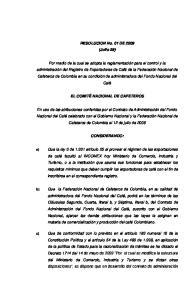 RESOLUCION No. 01 DE 2009 (Julio 28)
