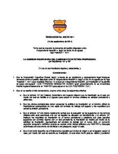 RESOLUCION No. 036 DE (15 de septiembre de 2011)