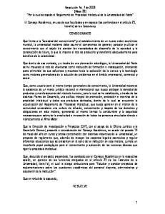 Resolución No. 7 de 2008 (Mayo 29) Por la cual se expide el Reglamento de Propiedad Intelectual de la Universidad del Norte