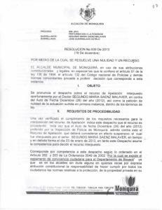 RESOLUCION No 939 De 2013 (19 De diciembre) POR MEDIO DE LA CUAL SE RESUELVE UNA NULIDAD Y UN RECURSO
