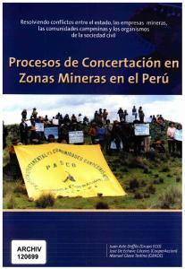 Resolviendo conflictos entre el estado, las empresas mineras,