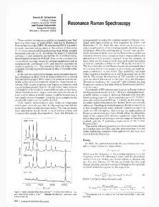 Resonance Raman Spectroscopy