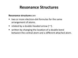Resonance Structures Resonance structures
