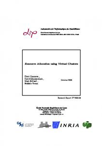 Resource Allocation using Virtual Clusters