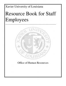 Resource Book for Staff Employees