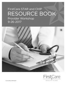 RESOURCE BOOK Provider Workshop