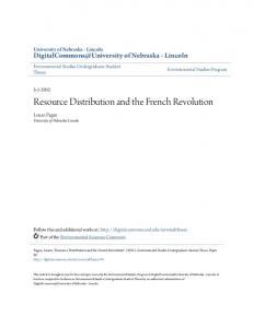 Resource Distribution and the French Revolution