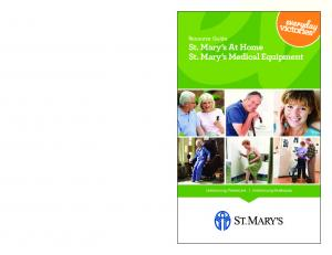 Resource Guide St. Mary s At Home St. Mary s Medical Equipment