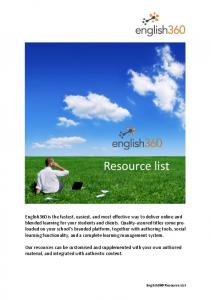 Resource list Resource list