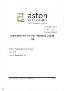 RESOURCE MANAGEMENT ACT 1991 CHRISTCHURCH CITY COUNCIL SUBMISSION ON THE PROPOSED HURUNUI PROPOSED DISITRICT PLAN 2015
