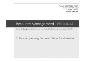 Resource Management - PERSONAL