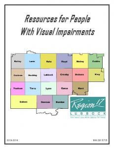Resources for People With Visual Impairments