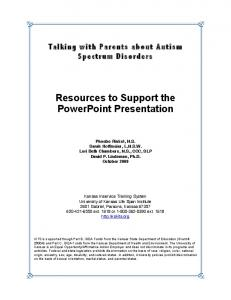 Resources to Support the PowerPoint Presentation
