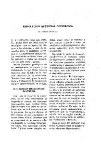 RESPIRACION ARTIFICIAL auirurgica