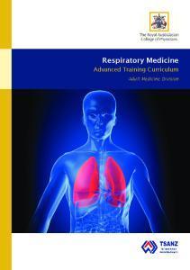 Respiratory Medicine. Advanced Training Curriculum. Adult Medicine Division