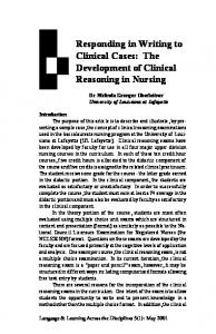 Responding in Writing to Clinical Cases: The Development of Clinical Reasoning in Nursing