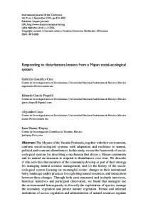 Responding to disturbances: lessons from a Mayan social-ecological system