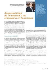 Responsabilidad de la empresa y del empresario en la sociedad