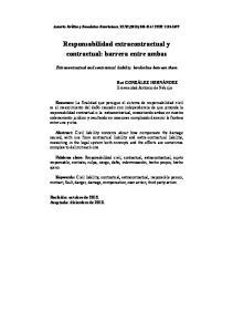 Responsabilidad extracontractual y contractual: barrera entre ambas
