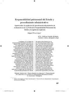 Responsabilidad patrimonial del Estado y procedimiento administrativo: