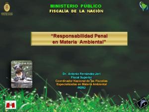 Responsabilidad Penal en Materia Ambiental