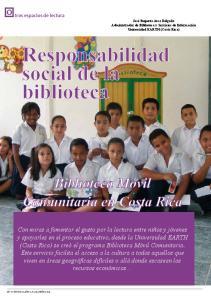 Responsabilidad social de la biblioteca