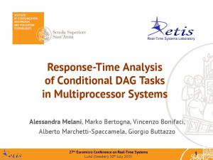 Response-Time Analysis of Conditional DAG Tasks in Multiprocessor Systems