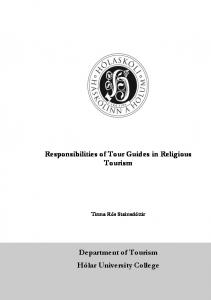 Responsibilities of Tour Guides in Religious Tourism
