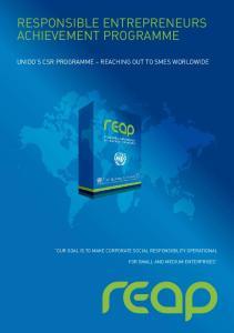 Responsible Entrepreneurs Achievement Programme
