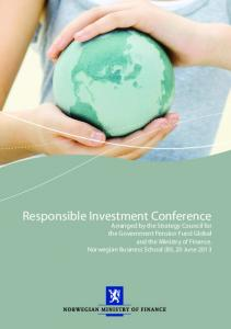 Responsible Investment Conference