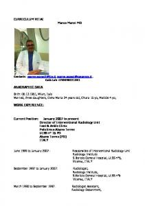 Responsible of Interventional Radiology Unit
